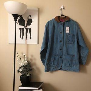 NWT Vintage Carol's denim collared  jean jacket